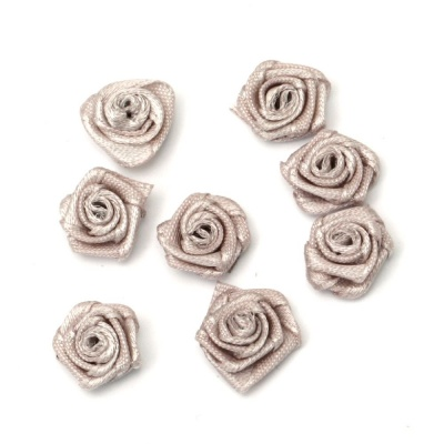Роза 11 мм кафява млечно -50 броя