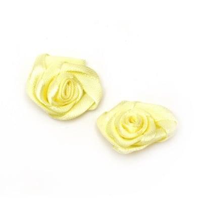 Роза 25 мм жълта светла -10 броя