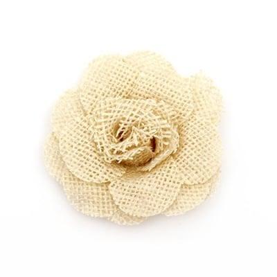 Роза 80 мм зебло кремава