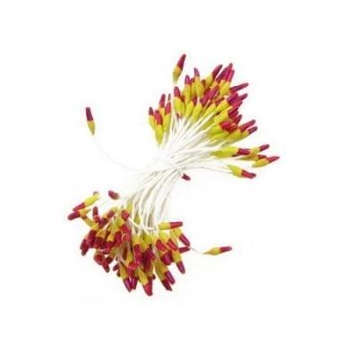 Тичинки двустранни 2x7x60 мм двуцветни жълто и червено ~144 бр