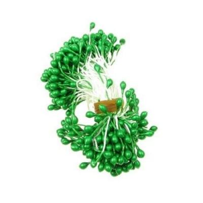 Тичинки перлени двустранни 3x6x70 мм зелени ~144 бр