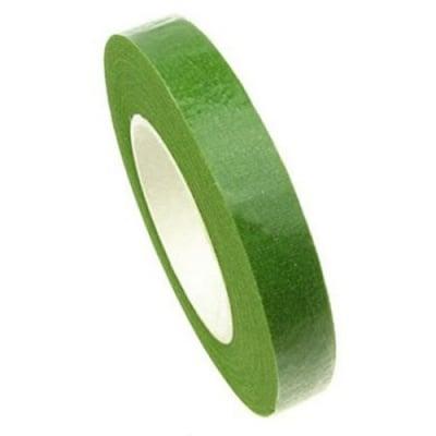 Тиксо цветарско от креп 13 мм зелено светло ~28 метра