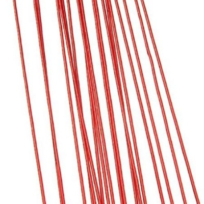 Тел цветарска 0.9 мм ~82 см червена -20 бр