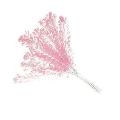 Цвете клонка 160x15 мм розово светло ДЪГА брокат -12 брокат