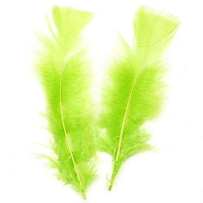 Перо 120~170x35~40 мм зелено светло -10 броя