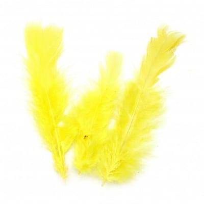Перо 120~170x35~40 мм жълто -10 броя