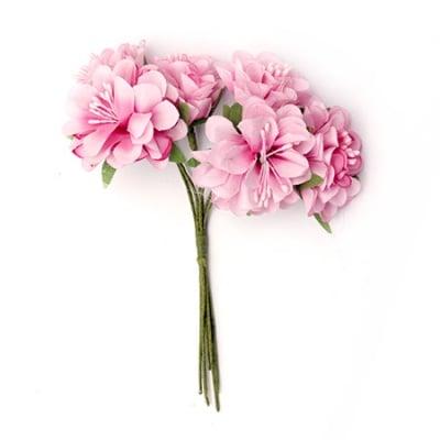 Цвете букет карамфил 35x110 мм тичинка розово светло-6 броя