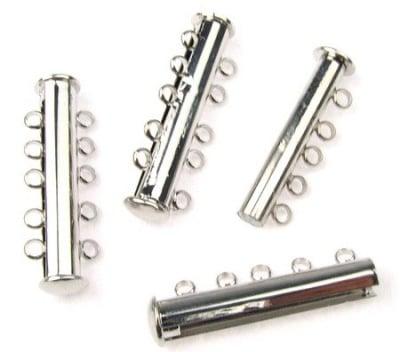 Закопчалка магнитна 30x10х7 мм две части пет уши цвят сребро