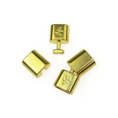 Закопчалка метална две части 32х14x8 мм дупка 6x11 мм цвят злато -1 комплект