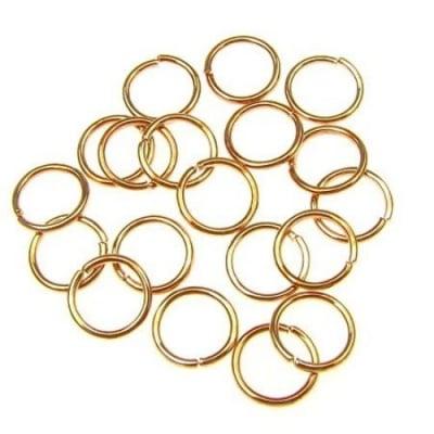 Халка 10х8 цвят злато розово -200 броя