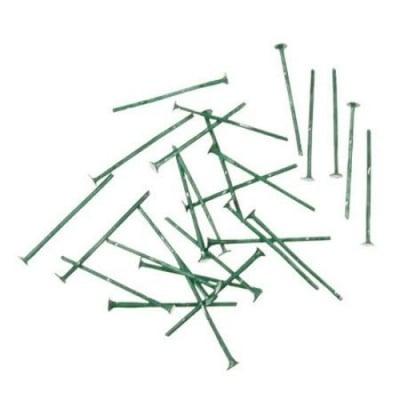 Свързващ елемент 20x0.7 мм с главичка цвят зелен -10 грама ~100 броя