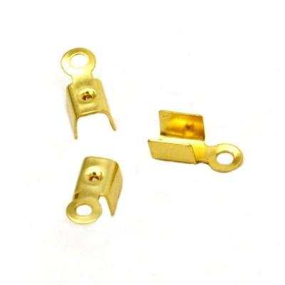 Накрайник 4x9.5 мм цвят злато-50 броя