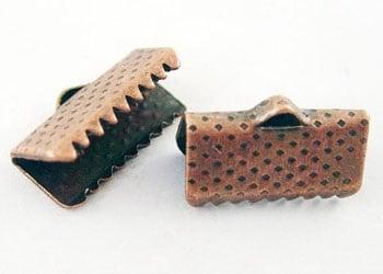 Накрайник 13 мм щипка цвят антик мед -50 броя