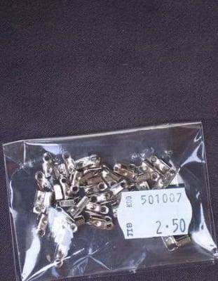 Накрайник 8x2.5 мм цвят сребро -50 броя
