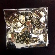 Накрайник 4x8 мм дупка 2 мм цвят сребро -50 броя