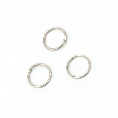 Халка 10х0.9 мм цвят сребро -200 броя