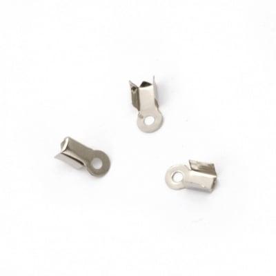 Накрайник 3х8.5 мм със зъб цвят сребро -50 броя