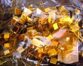 Накрайник двоен 5х11мм. злато със зъб -50бр.