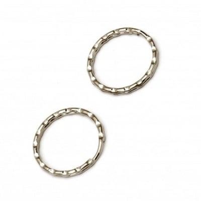 Халка за ключодържател 30х3 мм релеф две навивки цвят сребро -20 броя