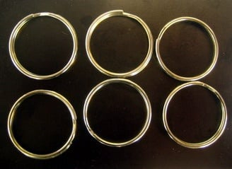 Халка за ключодържател 25х2 мм две навивки цвят сребро -20 броя