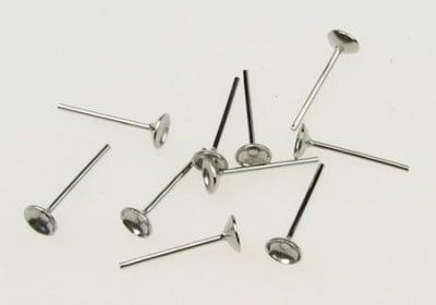 Накрaйник за обеца конус 4x13 мм цвят сребро -10 броя