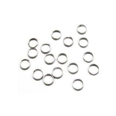 Халка 8мм. сребро 1.5 навивки - 50 броя