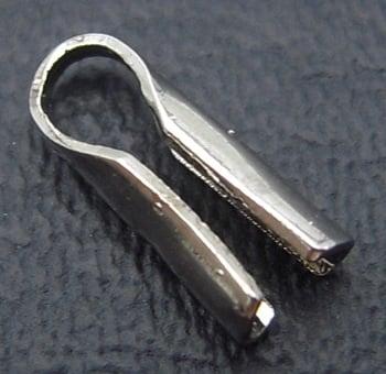 Накрайник 2.5x8 мм цвят сребро -50 бр.