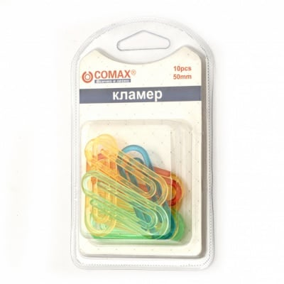 Кламери пластмаса 50 мм цветни - 10 броя