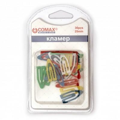 Кламери пластмаса 25 мм цветни - 30 броя
