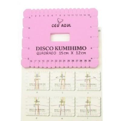 Диск Kumihimo за плетене, кумихимо правоъгълник -15 x 12см