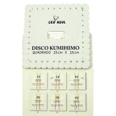 Диск Kumihimo за плетене, кумихимо квадрат-15 x 15 см