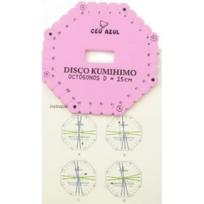 Диск Kumihimo за плетене, кумихимо осмоъгълник -15 см