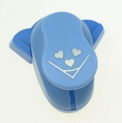 Перфоратор /пънч/ ъглов за релеф 25 мм за картон от 160 гр/м2 до 240 гр/м2 сърца
