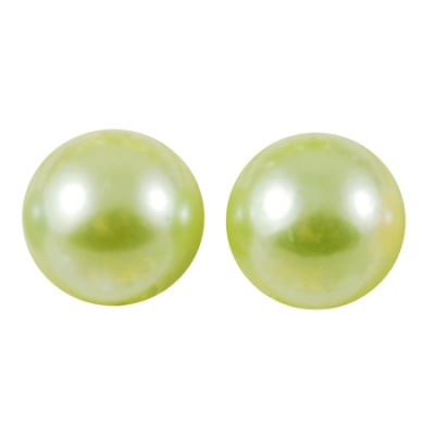 Перла полусфера 10x5 мм зелена светла -50 броя