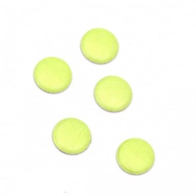 Метален елемент кръг с лепило 6х1 мм цвят неоново зелено - 100 броя
