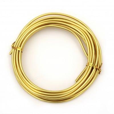 Тел алуминиева 3 мм цвят злато -5 метра
