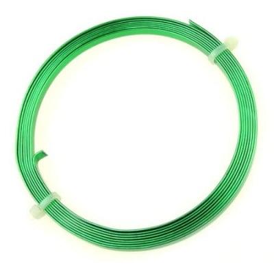 Лента алуминиева 5x1 мм цвят зелена -2 метра