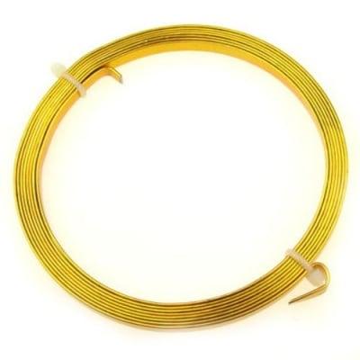Лента алуминиева 5x1 мм цвят злато -2 метра
