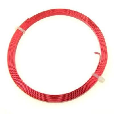 Лента алуминиева 5x1 мм цвят червена -2 метра