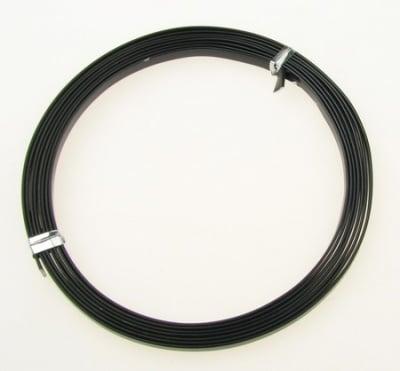 Лента алуминиева 5x1 мм цвят черна -2 метра