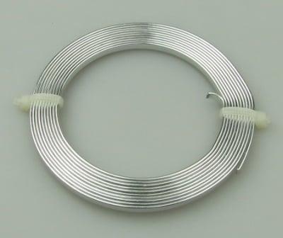 Лента алуминиева 3x1 мм цвят сребро -2 метра