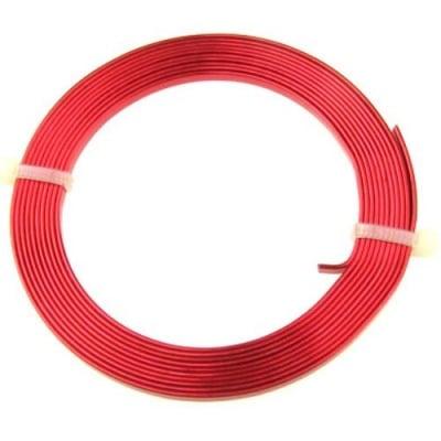 Лента алуминиева 3x1 мм цвят червена -2 метра