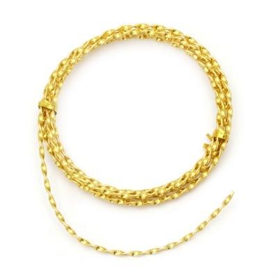 Тел алуминиева 2 мм усукана цвят злато ~2 метра