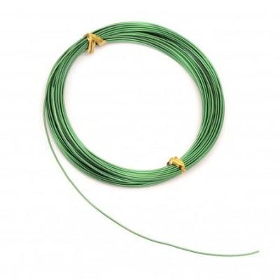 Тел алуминиева 1 мм цвят зелен -10 метра