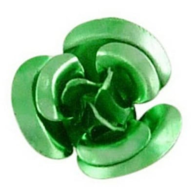 Роза метална 10x6.5 мм зелена -50 броя