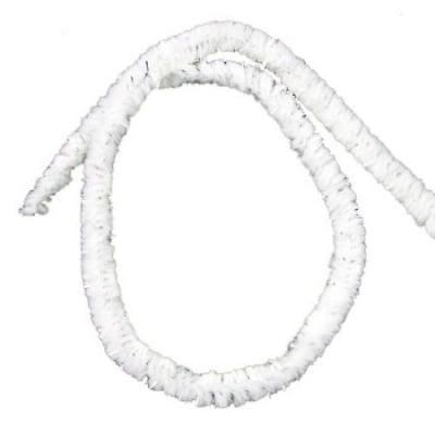 Пръчка телена ламе бяла -30 см -10 броя
