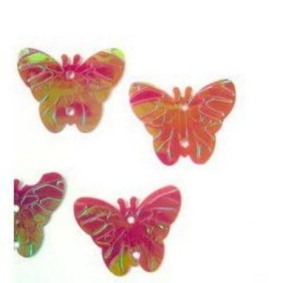 Пайети пеперуда 22х18 мм червени -20 грама