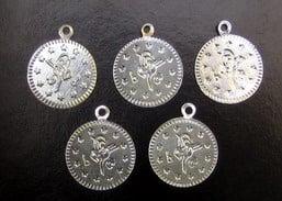 Паричка метал 19 мм сребро с халка -50 броя