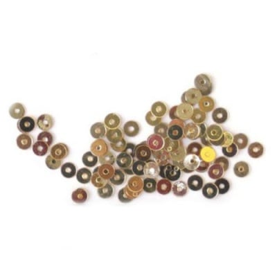 Пайети обли плоски 3 мм злато старо - 20 грама