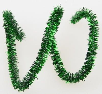 Пръчка телена ламе зелена -30 см -10 броя